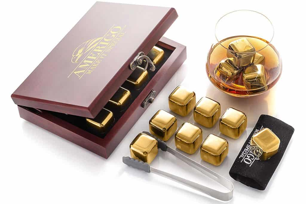 Amerigo Gold Stainless Steel Whiskey Stones