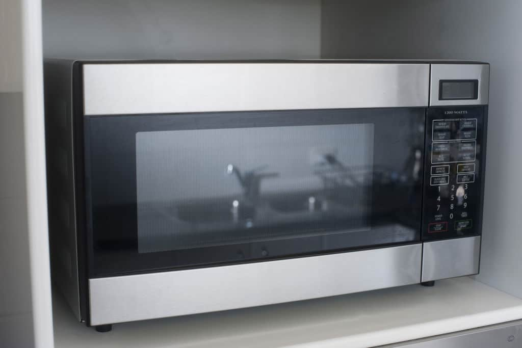 microwave turned off