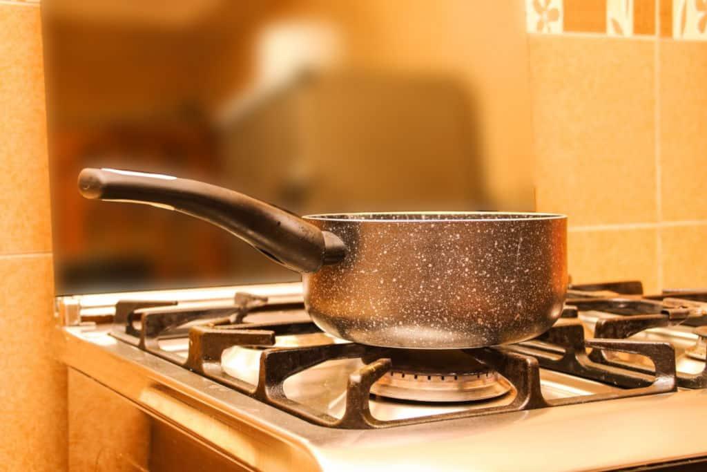 sauce pan on a stove