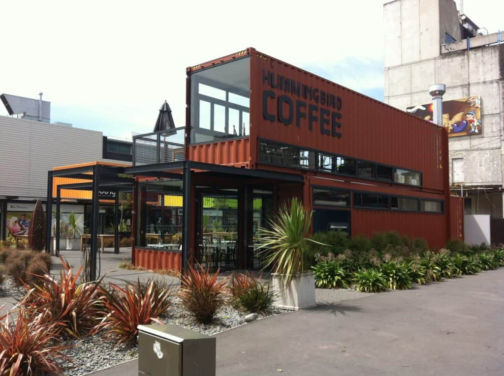Mall made out of shipping containers from New Zealand
