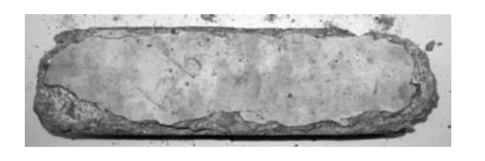 Concrete exposed to magnesium chloride for 10 weeks