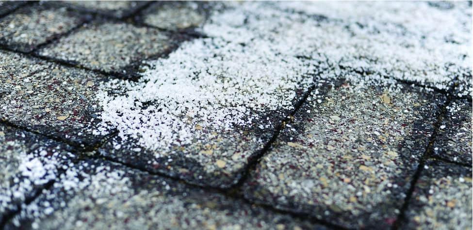 rock salt ice melt on the road