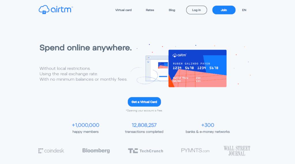 Airtm virtual debit card