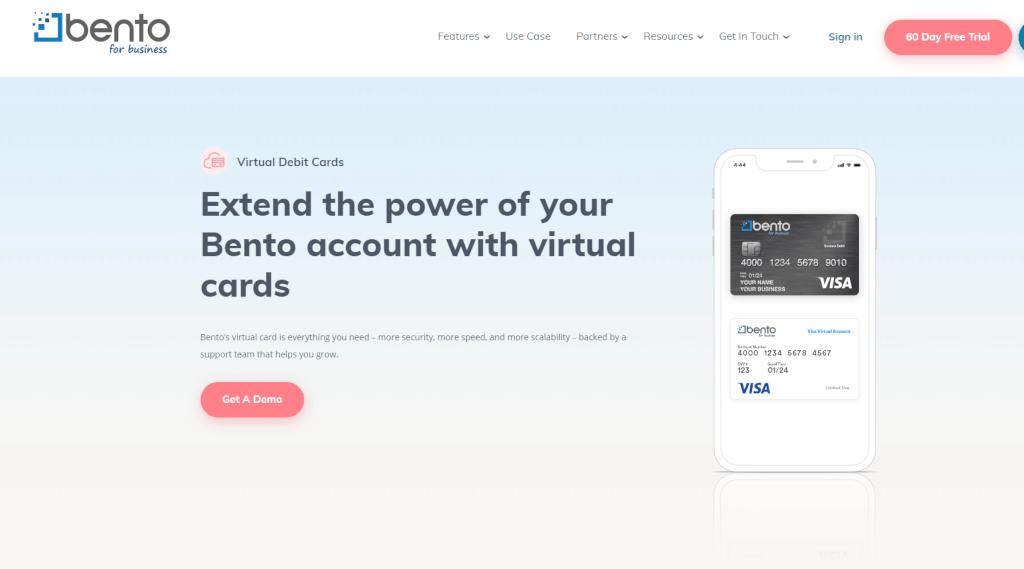 Bento Virtual debit cards