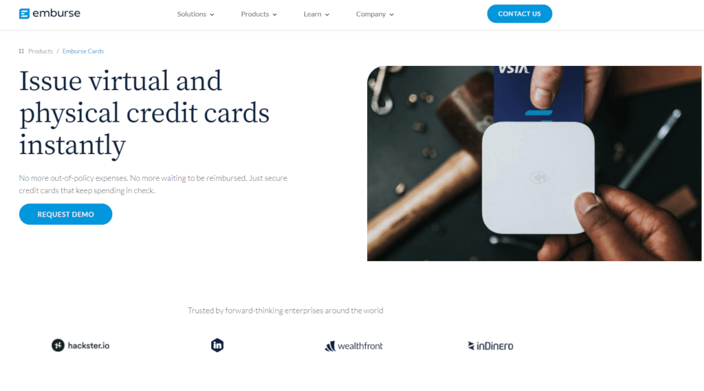 Emburse virtual cards