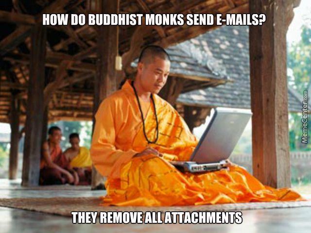 How do buddhist monks send emails