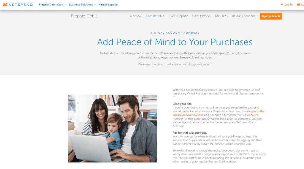 Netspend virtual prepaid cards