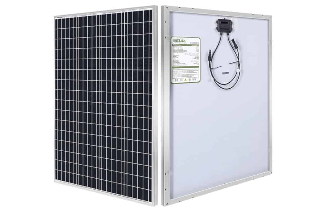 HQST 100W 12V Monocrystalline Marine Solar Panel