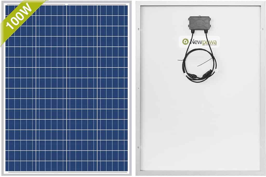 Newpowa 100W 12V Polycrystalline Marine Solar Panel