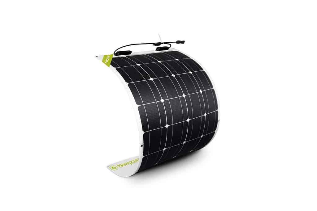 Newpowa 100W 12V Semi-Flex Lightweight Solar Panel for Boats