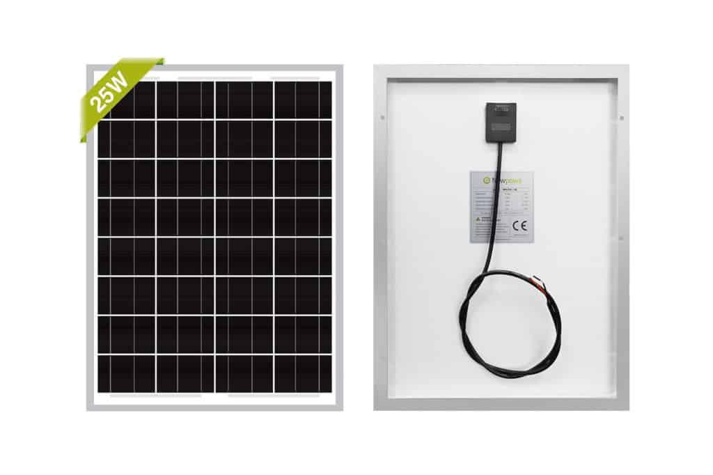 Newpowa 25W 12V Monocrystalline Solar Panel for Boats