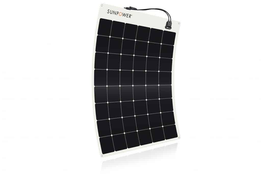 SunPower Flexible 100W Monocrystalline Solar Panel for Boats