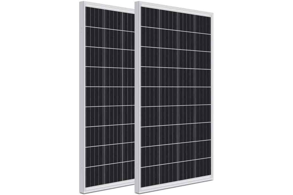 WEIZE 100Wx2 12V Monocrystalline Solar Panels for Boats